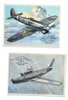 Biscottes Pain D'épices LUC : 2 Images Avions - Chromos