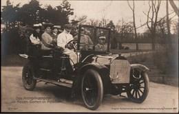 ! Alte Fotokarte Potsdam, Neuer Garten, Das Kronprinzenpaar Im Automobil, Adel, PKW, 1907, Photo - Potsdam