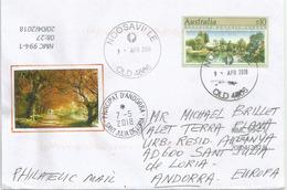Adelaide Botanic Garden.Timbre Haute Faciale $ 10.00 Sur Lettre Adressee Andorra - Covers & Documents