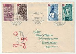 Suisse // Schweiz // Switzerland // Pro-Patria // 1949 //  Lettre FDC 1er Jour Série 1949 - Pro Patria