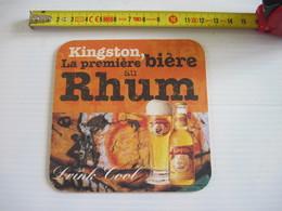 2 SOUS BOCK -   BIÈRE  -  Kingston La Première Bière Au Rhum - Bierviltjes