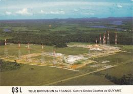 QSL  PUBLICITE TELE DIFFUSION DE FRANCE CENTRE ONDES COURTES DE GUYANE BELLE CARTE RARE !!! - Publicidad