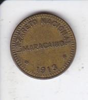 MONEDA DE 1/8 DE LAZARETO NACIONAL DE MARACAIBO DEL AÑO 1913 (COIN) VENEZUELA (RARA) - Venezuela