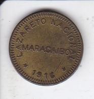 MONEDA DE 5 CENTIMOS DE LAZARETO NACIONAL DE MARACAIBO DEL AÑO 1916 (COIN) VENEZUELA (RARA) - Venezuela