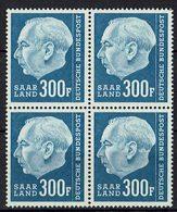 Saarland 1957 // Mi. 428 ** 4er (022..690) - Neufs