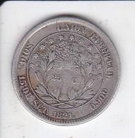 MONEDA DE PLATA DE HONDURAS DE 25 CENTAVOS DEL AÑO 1871 (RARA) (COIN) SILVER,ARGENT. - Honduras
