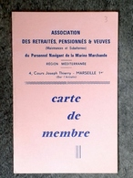 CARTE DE MEMBRE DU PERSONNEL NAVIGANT DE LA MARINE MARCHANDE - Bateaux