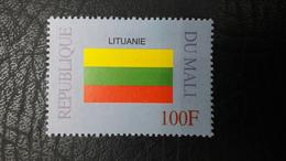 MALI 1999 ¤ FLAGS FLAG DRAPEAUX DRAPEAU ¤ LITHUANIA LITUANIE ¤ RARE -  MNH ** - Timbres