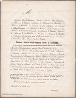 BRUXELLES Baron Goswin De STASSART 1854 74 Ans Congrès National Sénateur  ELOY De BURDINNE Grand Orient De Belgique - Todesanzeige