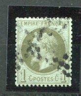 6918  FRANCE N° 25a°   1c Olive    Napoléon III   Lauré   1870    B/TB - 1863-1870 Napoleon III With Laurels
