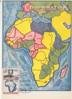 Carte  Maximum  1er  Jour   FRANCE   COOPERATION   1964 - Cartes-Maximum