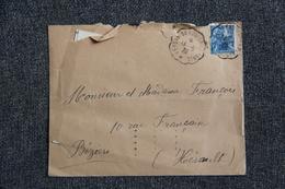Lettre De PERSAN BEAUMONT Vers BEZIERS Avec Son Courrier - Lettres & Documents