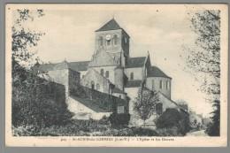 CPA 35 - Saint Aubin Du Cormier - L'Eglise Et Les Douves - France
