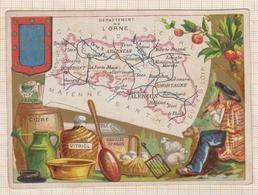 8AK962 CHROMO GEOGRAPHIQUE L'ORNE ALENCON ARGENTAN DOMFRONT MORTAGNE 2 Scans - Géographie