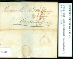 BRIEFOMSLAG Uit 1853 Gelopen Van ROTTERDAM Naar GEERTUIDENBERG  (11.001) - 1852-1890 (Guillaume III)