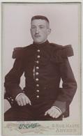 Vintage - Photographie  1900 - Militaire Belge - N° 8 - War, Military