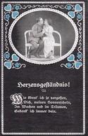AK Deutscher Soldat Mit Frau - Herzensgeständnis - Patriotika - 1. WK (34657) - Guerre 1914-18