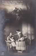 AK Deutscher Soldat Mit Familie - Mit Schuss Und Hieb... - Patriotika - Feldpost Wiederitzsch 1915 (34658) - Guerre 1914-18