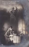 AK Deutscher Soldat Mit Familie - Scharf Auf Der Wacht... - Patriotika - Feldpost Wiederitzsch 1915 (34659) - Guerre 1914-18