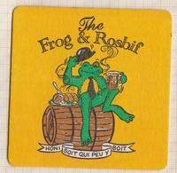 8AK966 SOUS BOCK THE FROG & ROSBIF HONI SOIT QUI PEU Y BOIT 1995 - Sous-bocks