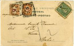 SEGNATASSE 10 + 5 Cent. Da Portogallo Portugal Per Venezia 1904  Card Mosteiro Da Batalha - 1900-44 Vittorio Emanuele III