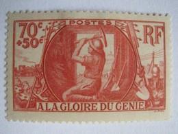 YT 423 (*) 1939, A La Gloire Du Génie Militaire 70c+50c Rouge (côte 7 Euros) – 91 - Unused Stamps