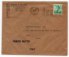 HONG KONG - COVER/PRINTED MATTER TO ITALY 1963 / SALESIANS OF DON BOSCO - Hong Kong (...-1997)
