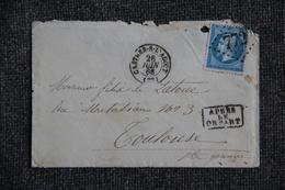 Lettre De CASTRES Vers TOULOUSE - 1862 Napoleon III