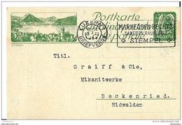 """III24 - Entier Postal  Privé 10cts Avec Illustration """"Vitznau"""" Oblit Mécanique 1924 - Interi Postali"""