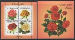 Azerbaïjan 2014 Mih. 1055/59 (Bl.143/44) Flowers. Roses MNH ** - Azerbaïdjan