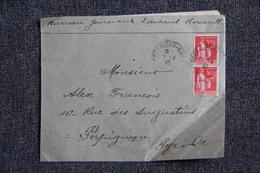 Lettre De LAURENS Par BEDARIEUX Vers PERPIGNAN - Lettres & Documents