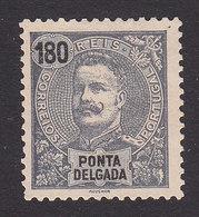 Ponta Delgada, Scott #31, Mint No Gum, King Carlos, Issued 1897 - Ponta Delgada