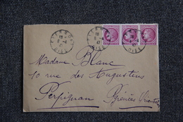 Lettre De CLERMONT ( OISE) Vers PERPIGNAN - Lettres & Documents