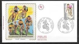 FDC   Lettre Premier Jour Gap  22/07/1972 Le  N°1724 Championnat Du Monde Cyclisme Sur Route Soldé à Moins De 20 % ! ! ! - Ciclismo