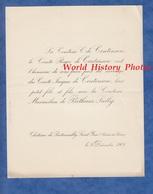 Document De 1908 - Château De PONTAMAILLY SAINT YAN - Mariage Comte Jacques De CONTENSON & Maximilien De BETHUNE SULLY - Mariage