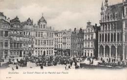 BRUXELLES - La Grand'Place Et Le Marché Aux Fleurs - Marchés
