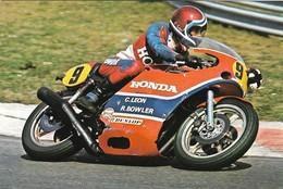 Moto Courses Sur Routes Honda De Christian Leon (2 Scans) - Motos