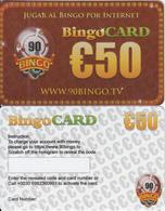 GREECE - 90 BINGO TV, Bingo Card 50 Euro, Sample - Other Collections