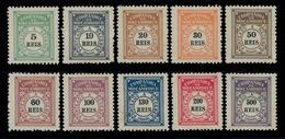 ! ! Mozambique Company - 1906 Postage Due (Complete Set) - Af. P01 To P10 - MH - Mozambique