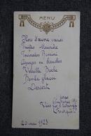 Menu Du 20 Mai 1923 - Menus