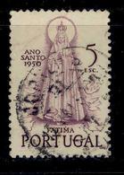 ! ! Portugal - 1950 Lady Of Fatima 5$00 - Af. 722 - Used - 1910-... Republik