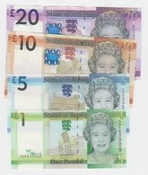 Jersey Banknote Set D Series, £1 To £20 - Superb UNC Condition - Jersey
