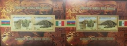 O) 2010 AZERBAIJAN, IMPERFORATE PROOF, JOINT ISSUE WITH MEXICO, ARCHEOLOGY-WORLD HERITAGE -UNESCO -ATESHGAH FINE TEMPLE - Azerbaïjan