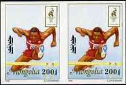 13582 (sport) Mongolia 1996 Atlanta Olympics 200t (Hurdling) Imperf Pair Unmounted Mint - Summer 1996: Atlanta