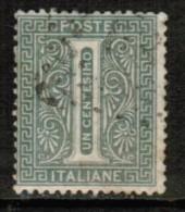 ITALY  Scott # 24 F-VF USED - 1861-78 Vittorio Emanuele II