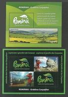 ROMANIA 2010 CARPATHIAN GARDEN TREES MOUNTAINS SET OF 2 M/SHEETS MNH - Unused Stamps