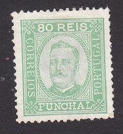Funchal, Scott #8, Mint No Gum, King Carlos, Issued 1892 - Funchal