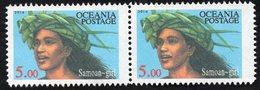 Oceania Nations Postage Samoan Girl Pair. - New Zealand