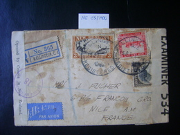 NEW ZEALAND - LETTER SENT FROM WELLINGTON TO FRANCE OPEN FOR CENSORSHIP IN THE STATE - 1907-1947 Dominion