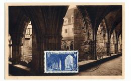 Carte Maximum Abbaye De Saint WANDRILLE ( Rare1949) - Maximum Cards